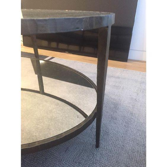 Crate & Barrel Crate & Barrel Clairemont Oval Coffee Table For Sale - Image 4 of 5