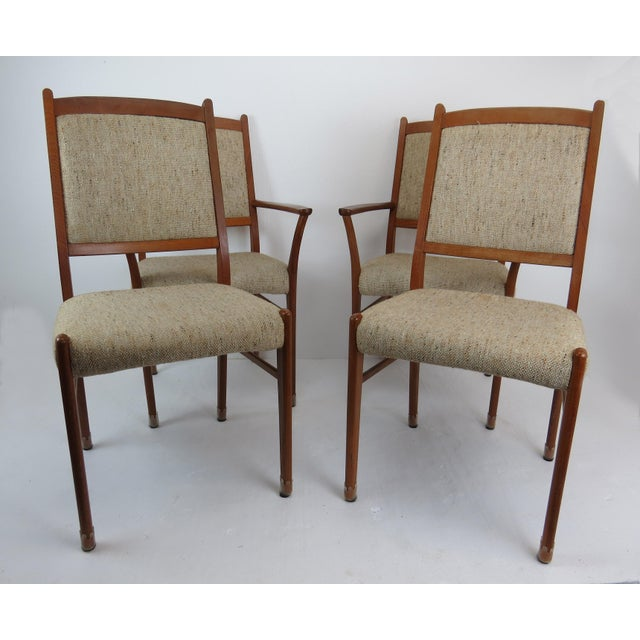Brown 1960s Sculptural Mid-Century Modern Danish Teak Dining Chairs - Set of 4 For Sale - Image 8 of 13