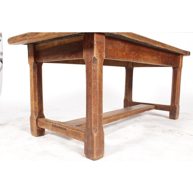 Antique Monestary-Style Oak Coffee Table - Image 6 of 9