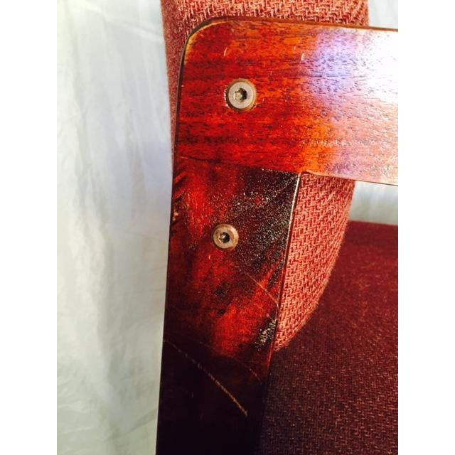 1970's Style Wood and Upholstered Chair - Image 6 of 6