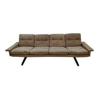 Fredrik Kayser 4 Seat Rosewood Pedestal Sofa For Sale