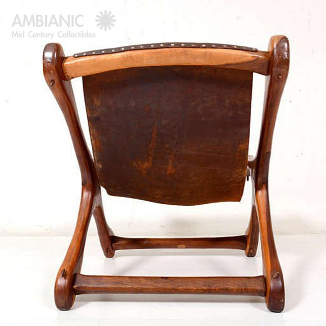 1970s Sling Chair Attributed to Don Shoemaker For Sale - Image 5 of 11