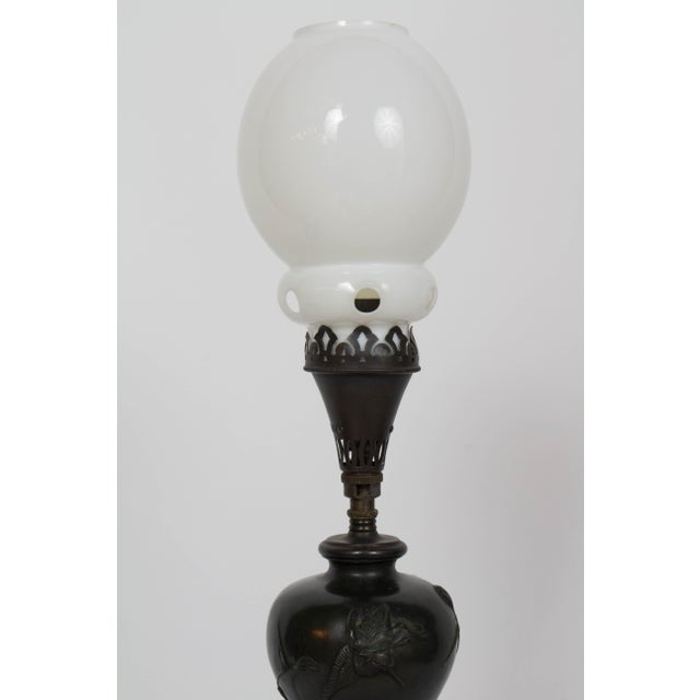 Mid 19th Century Mid 19th Century Vintage Meiji Japanese Bronze Gas Lamp For Sale - Image 5 of 12