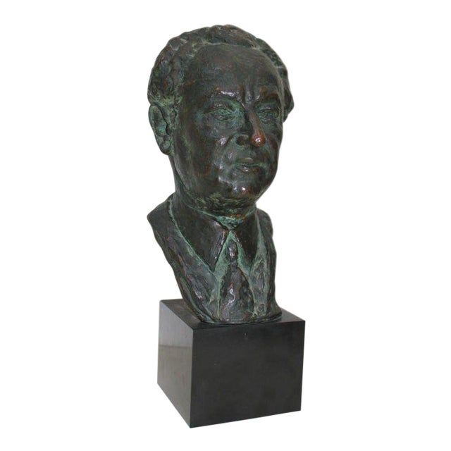 Bronze Bust by Serge Yourievitch For Sale