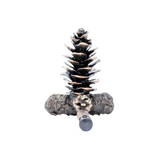 Fir Cone Door Stop with Traditional Patina For Sale