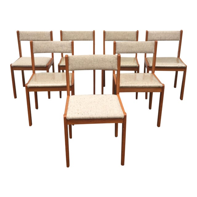 Scandinavian Modern Dining Chairs - Set of 7 - Image 1 of 11
