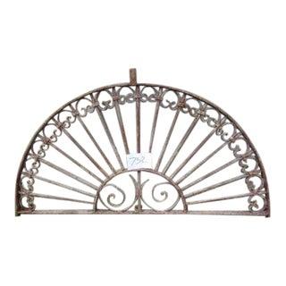 Antique Victorian Iron Gate Window Garden Fence
