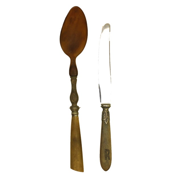 19th Century French Serving Set - 2 Pieces For Sale