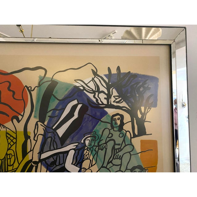 """1960s Mid-Century Modern Leger Style Lithograph """"Partie De Campagne"""" (Country Party) For Sale - Image 5 of 9"""