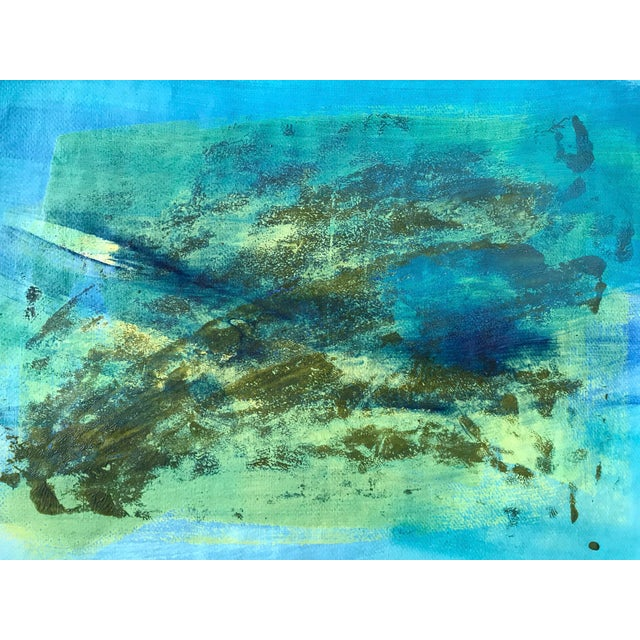 "1980s Original Bay Area Artist ""Blue Green Pt. 1"" For Sale In New York - Image 6 of 7"