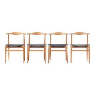 "Hans J Wegner Dining Chair Model ""1934"" for Fritz Hansen Set of Four For Sale"
