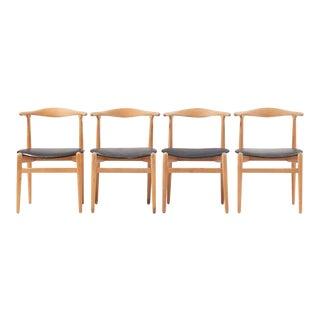 """Hans J Wegner Dining Chair Model """"1934"""" for Fritz Hansen Set of Four For Sale"""