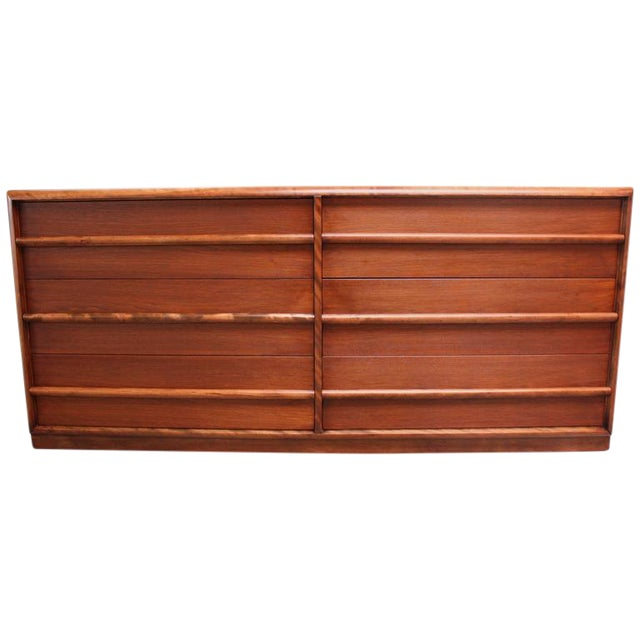 T.H. Robsjohn-Gibbings for Widdicomb Walnut Chest of Drawers - Image 1 of 9