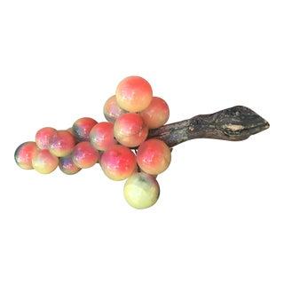 Vintage Italian Alabaster Stone Fruit Grapes