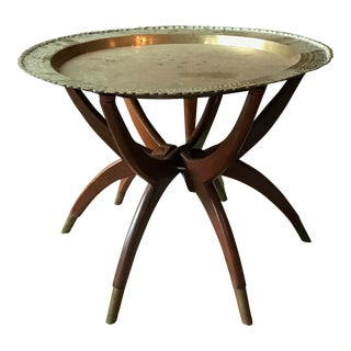 1960s Mid Century Modern Spider Leg Tray Table For Sale