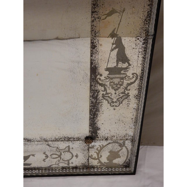 Antique Venetian Glass Mirrors - a Pair For Sale - Image 11 of 13