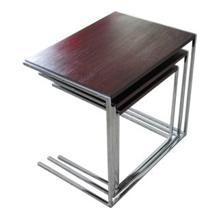 1960s Vintage Rosewood Nesting Tables - Set of 3 For Sale