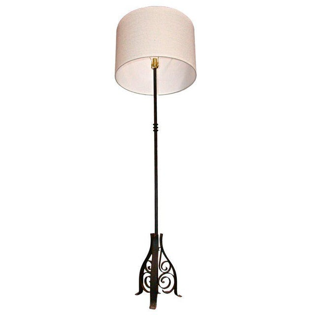 Black French Iron Floor Lamp For Sale - Image 8 of 8