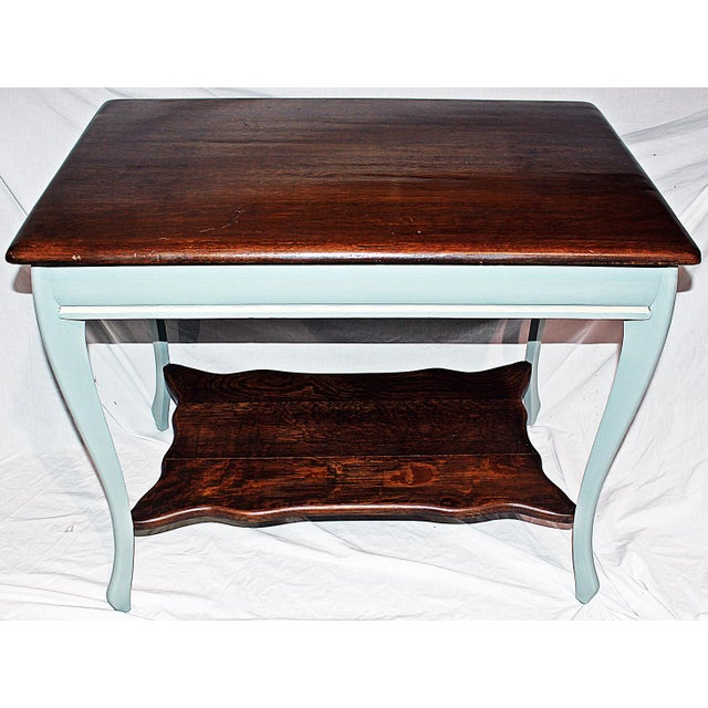 19th Century Early American Oak Writing Desk For Sale In West Palm - Image 6 of 9