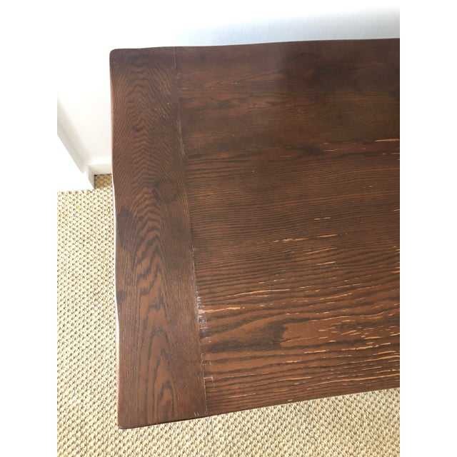 Jacobean Style Carved Oak Refectory Table For Sale - Image 12 of 13