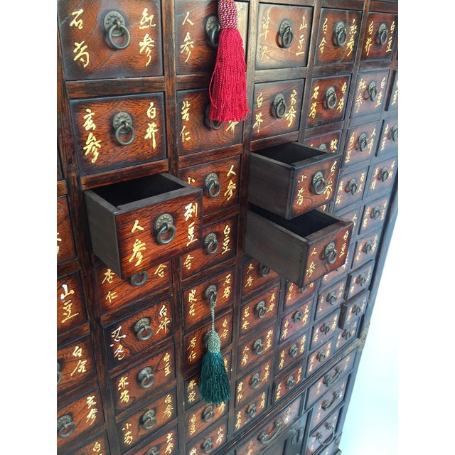 Vintage Chinese Apothecary Cabinet Medicine Storage Chest