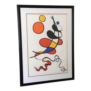 """Boule Jaune Boule Orange"" Alexander Calder Framed Lithograph"