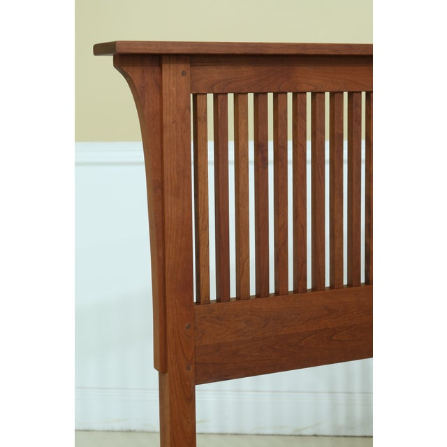 Brown Stickley King Size Mission Cherry Spindle Bed For Sale - Image 8 of 13