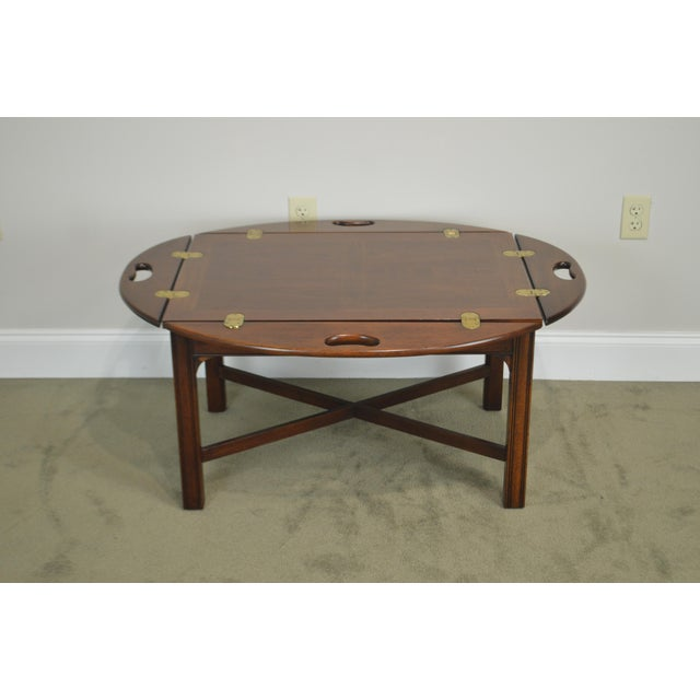 Chippendale Style Mahogany Butlers Coffee Table For Sale - Image 4 of 13