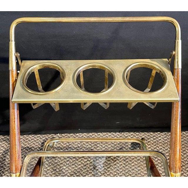 Mid-Century Modern Mid-Century Modern Bar Cart, Teak and Brass For Sale - Image 3 of 13