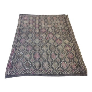 "1960's Turkish Kilim - 6'4"" X 9'2"" For Sale"