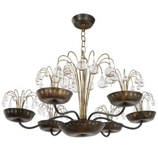 Chandelier in the Style of Paavo Tynell For Sale