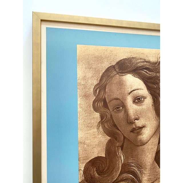"Mourlot "" Botticelli Birth of Venus "" Rare Vintage 1935 Mourlot Lithograph Print Art Deco Framed French Exhibition Poster For Sale - Image 4 of 13"