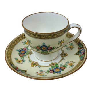 Mid-20th Century Traditional Minton Miniature China Tea Cup and Saucer