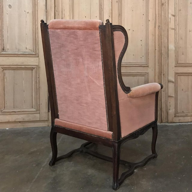 19th Century French Louis XVI Grand Armchair ~ Bergere For Sale - Image 4 of 11