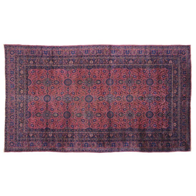 Textile Jewel-Tone Antique Turkish Sparta Gallery Rug For Sale - Image 7 of 8