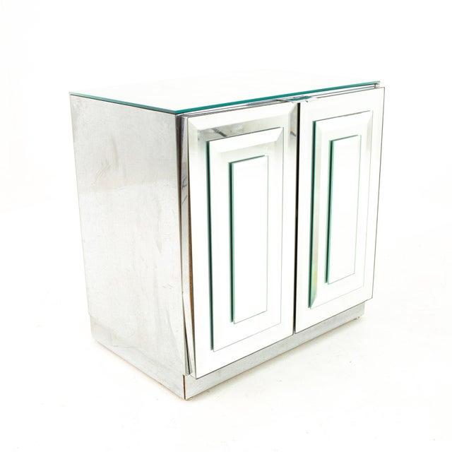 """Ello Ello Mirrored Mid Century """"Skyscraper"""" Nightstand - Pair For Sale - Image 4 of 13"""
