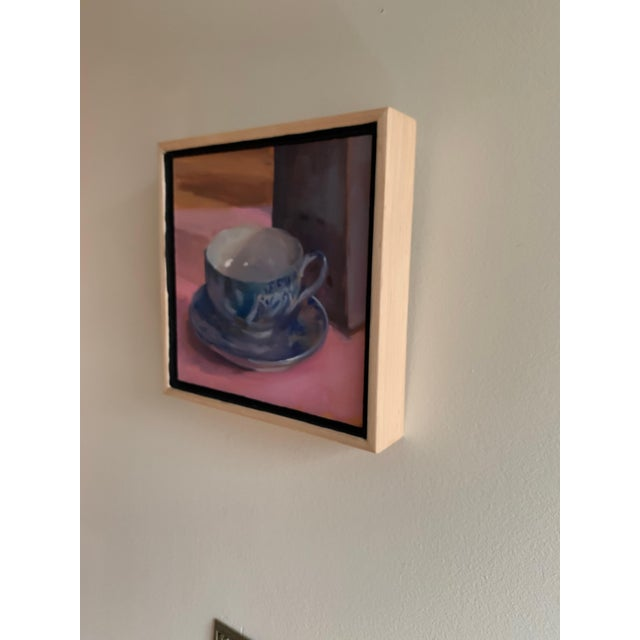 Painting of Teacup Willow Ware For Sale In New York - Image 6 of 6