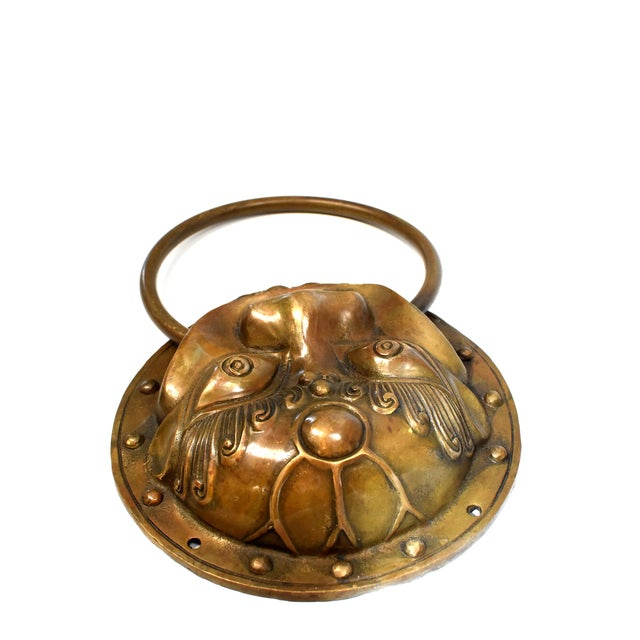 Late 20th Century Beast Motif Brass Knockers- a Pair For Sale - Image 12 of 13