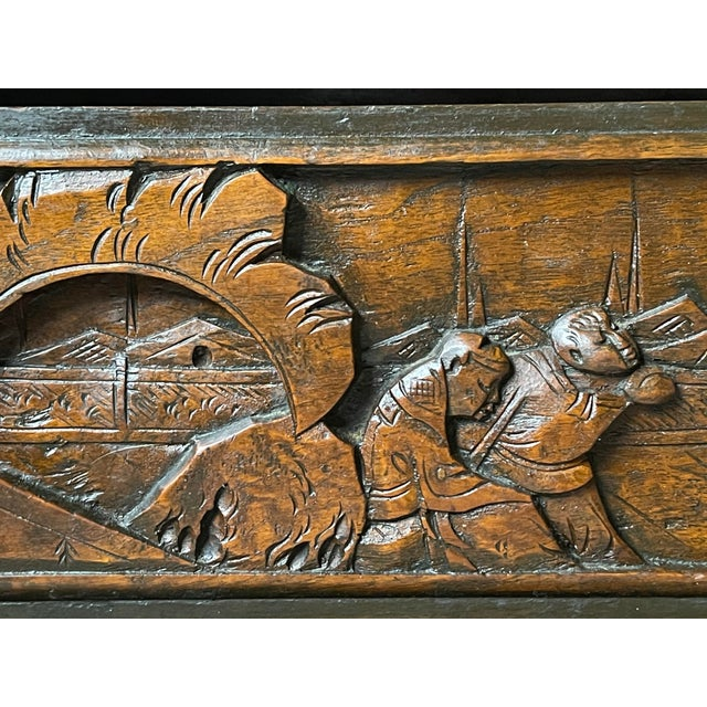 Chinoiserie Carved Camphor Wood Batchelor's Chest For Sale - Image 10 of 13