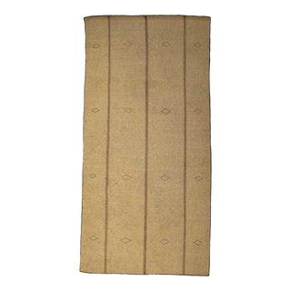 Vintage Tuareg Brown Rug For Sale