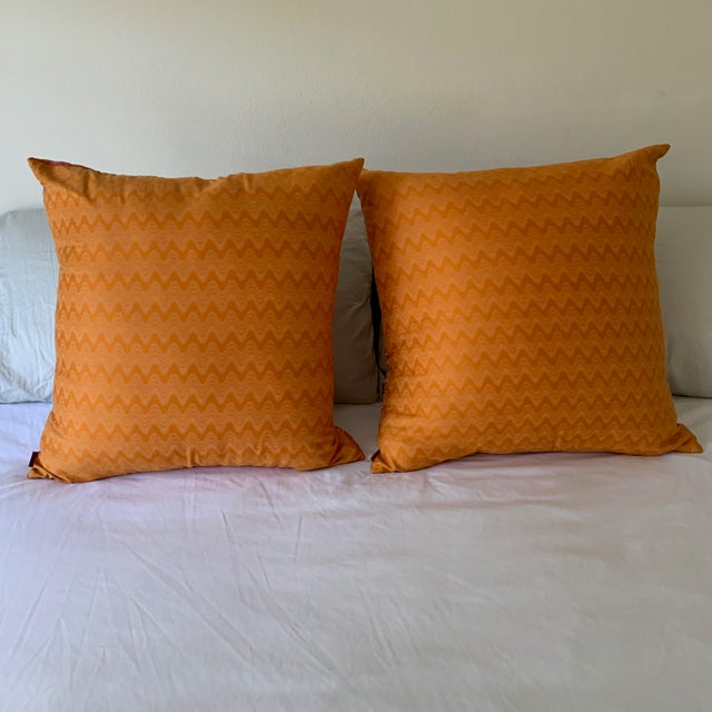 2010s Missoni Home Large Decorative Pillows - Pair For Sale - Image 5 of 10