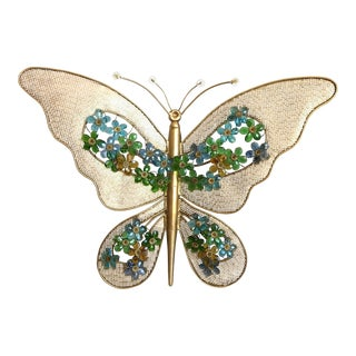 Monumental 1950s Italian Butterfly Wall Light For Sale