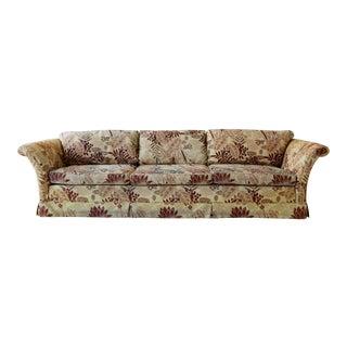 Vintage Tropical Wild Flower Sofa For Sale