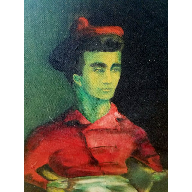 Mid-Century Fauvist Portrait of a Man - Image 6 of 8