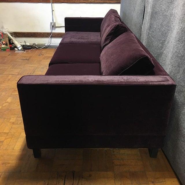 Dialogica Purple Velvet 10-Foot Custom-Made Sofa - Image 4 of 11