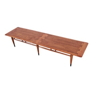 Lane Acclaim Mid-Century Modern Walnut and Ash Long Coffee Table For Sale