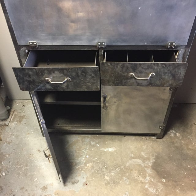 Vintage 1920's Industrial Metal Cabinet - Image 9 of 10