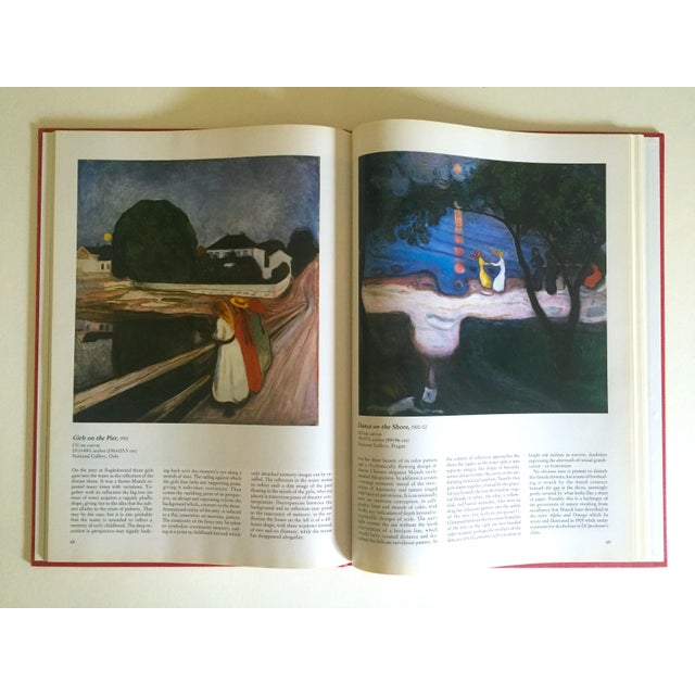 """"""" Munch """" First Edition Vintage 1990 Expressionist Hardcover Art Book For Sale - Image 11 of 13"""