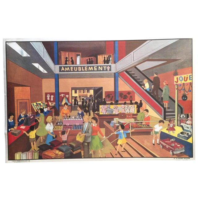 French Vintage Department Store Poster - Image 1 of 6