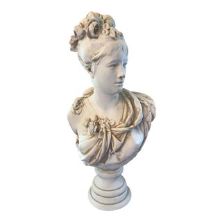 Large 19th Century Bisque Bust by Albert-Earnest Carrier For Sale